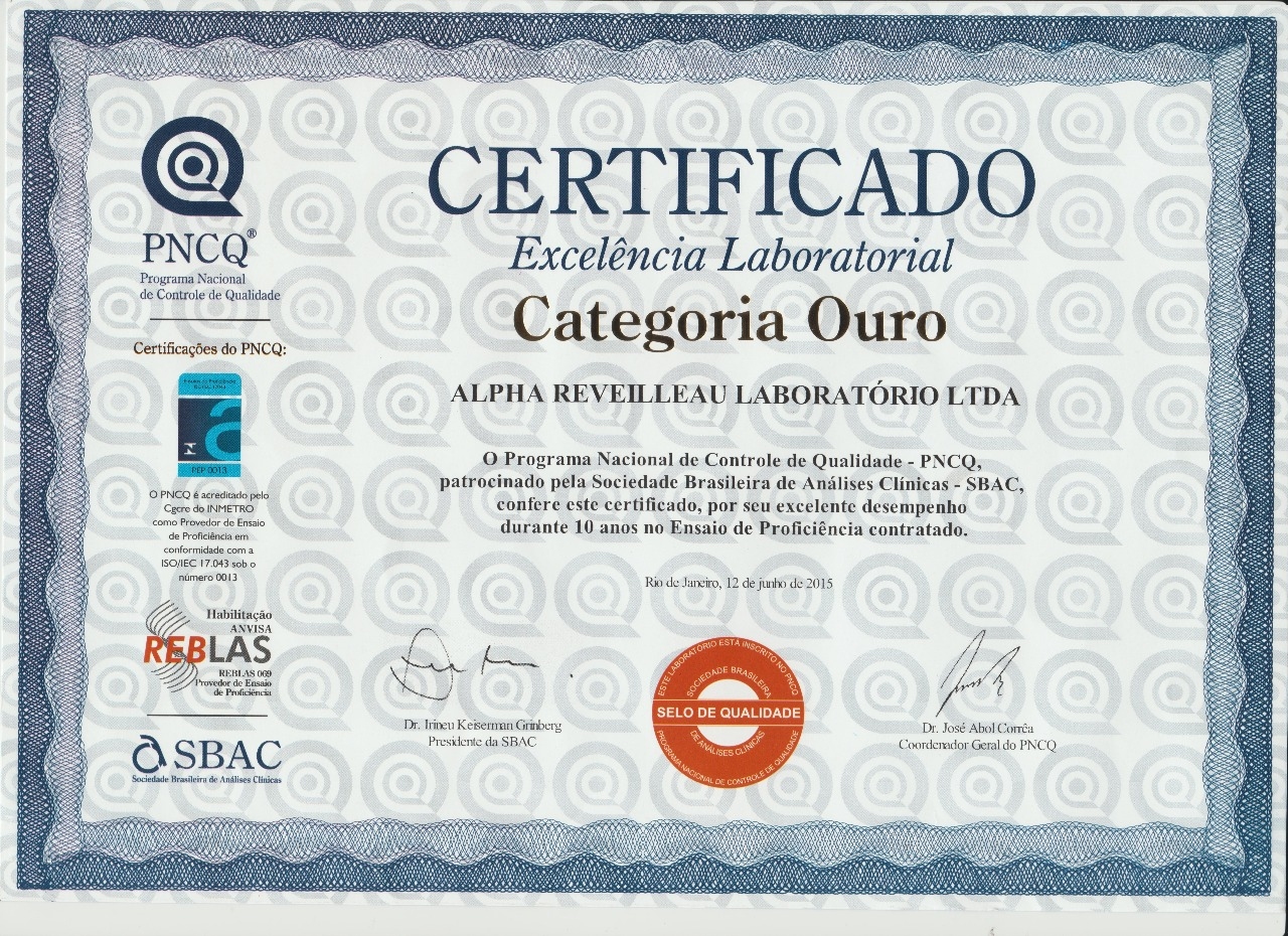 cert ouro